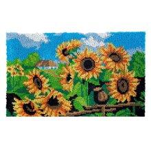Sunflower Field Rug Latch Hooking Kit  (85x58cm)