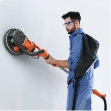750W Electric Drywall Sander Adjustable Variable Speed w/Sanding Pad