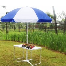 4FT Folding Camping Table Aluminium Picnic Portable Adjustable Garden