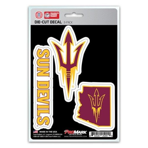 Pro Mark DST3U004 Arizona State Decal - Pack of 3