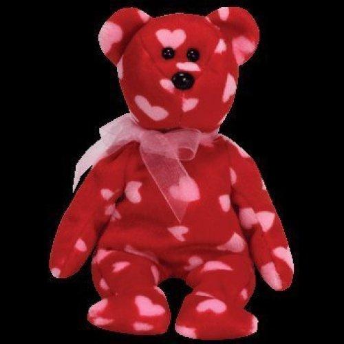 Ty Beanie Baby Little Kiss The Bear Hallmark Gold Crown