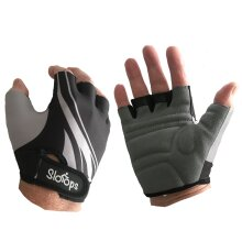 Mens Fingerless GEL Padded Cycling, Sports Gloves