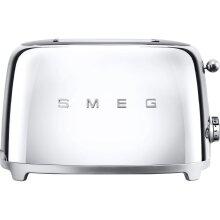 Smeg 50's Retro TSF01SSUK 2 Slice Toaster - Chrome