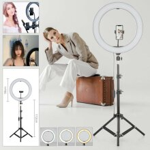 "14""LED Ring Light Dimmable Lighting Kit Phone Selfie Makeup Live Lamp"