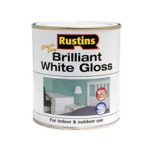 Rustins WHIGW500 Gloss Paint Water Based White 500ml
