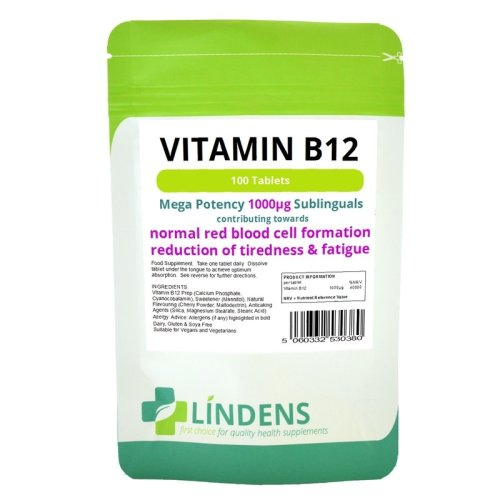 Vitamin B-12 1000mcg High Potency 1-a-day 3-PACK 300 Sublingual Tablets B B12
