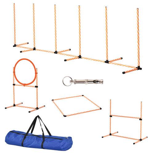 PawHut Pet Agility Training Equipment Dog Jump Hurdle Bar Obedience Training Set