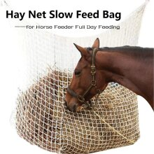 Hay Net Bag Slow Feed Bag for Horse Feeder Full Day Feeding Large Feeder Bag with Small Holes In Stock Fastshipping