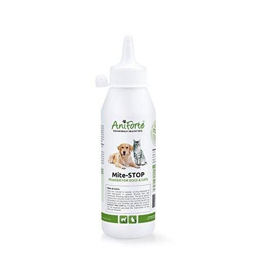 Mite-STOP Powder by Aniforte | Disinfect Cats & Dogs with Proper Flea Treatment | 250ml (50g) Diatomaceous Earth