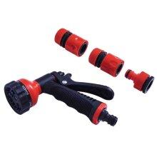 Garden Spray Gun Set 5ps Water Hose Nozzle Watering Set  Amtech U2125