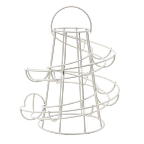 Kabalo Chrome Kitchen Spiral Helter Skelter, Egg Storage Holder/Storer Stand Display Rck Basket Egg House