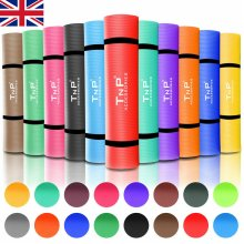 NBR Yoga Mat for Pilates Gym Exercise 15mm Thick