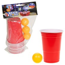 Adult Drinking Game - Over 18's - Christmas Gift - 18 Piece Beer Pong Set