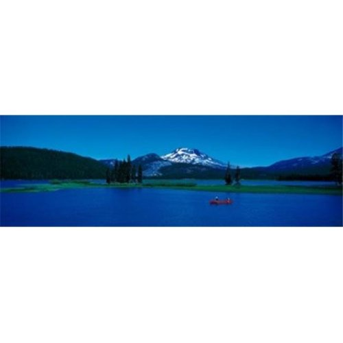 South Sister canoeing Sparks Lake OR USA Poster Print by  - 36 x 12