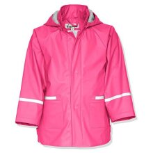 Playshoes Girl's Basic Single Breasted Rain Jacket, Pink, 6-9 months (74)