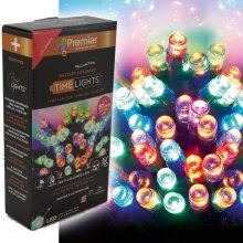 Premier 200 LED Multi-Coloured Battery-Operated Time Lights - 20m