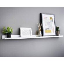 Lokken Picture Shelf  Ledge Wall Floating Shelf Home Rack Frame Easy to install. 120cm - White