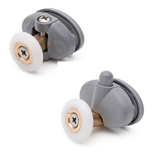 Set of 4 Single Shower Door Rollers/Runners /Wheels 23mm Wheel Diameter L056-1