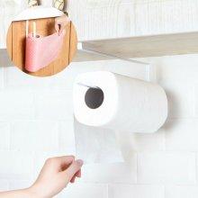 Kitchen RollPaper Holder Towel Storage RackTissue Hanger no punching