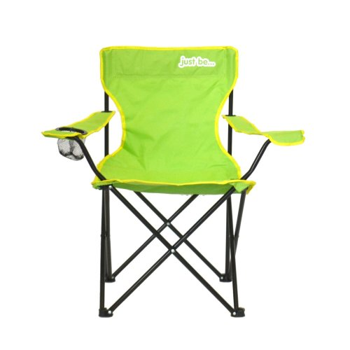 just be...® Folding Camping Chair - Light Green with Yellow Trim