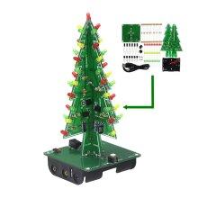 3D Christmas X-mas Tree LED Circuit DIY Kit Red Yellow Green Flashing