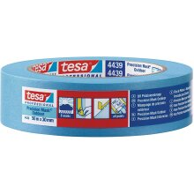 tesa 04439-00003-00 Precision Outdoor, Razor Sharp Edge Masking Tape for Painting and Decorating Outside, Residue Free Removal, 50m x 38mm