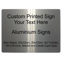 962 Custom Personalised Your Text Metal Aluminium Sign Door House Office Plaque