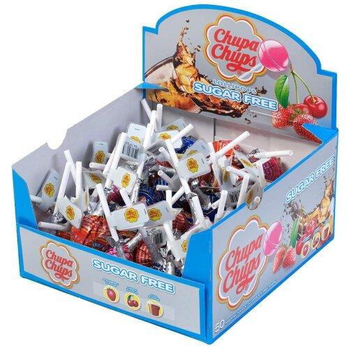 Chupa Chups Sugar Free Sweets Multipack of 50 Lollipops