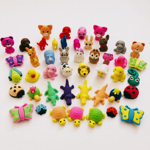 Animals Birds Dogs Cats Fish Sealife Puzzle Erasers Novelty Fun Kids Rubbers Party Gift Bag Fillers Assorted 8 Pc