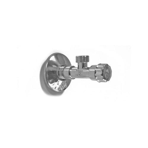 Angle valve, heavy brass, 1/2 x 3/8