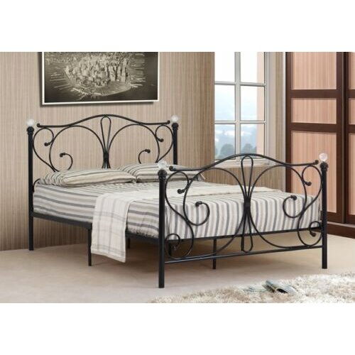Isabelle Metal Bed Frame with Charlotte Mattress