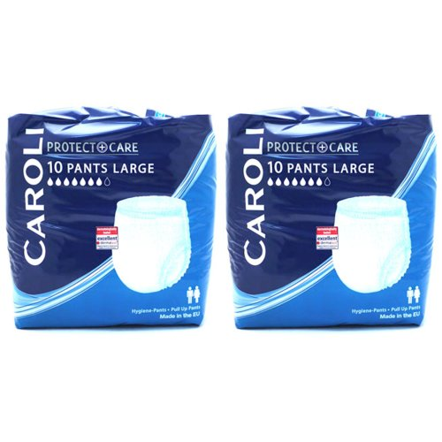 Caroli Adult Pull Up Pants Incontinence Nappies - Pack of 20 Large