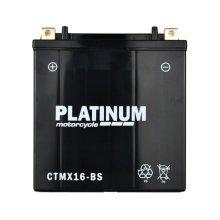 PLATINUM Motorcycle MF AGM Battery 12V - 14Ah - 270CCA [CTMX16-BS]