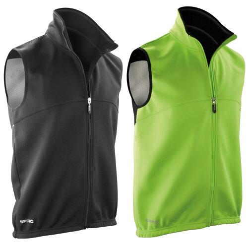 Spiro Mens Airflow Windproof Walking Sports Running Sleeveless Gilet Jacket Top