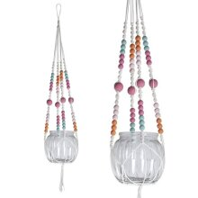 Painted Beads Macrame Hanger Kit for Small Jar or Vase    Adults Craft Kits & Gifts