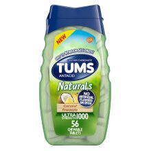 Tums Naturals Ultra Strength Antacid, Coconut Pineapple, 56 Tablets