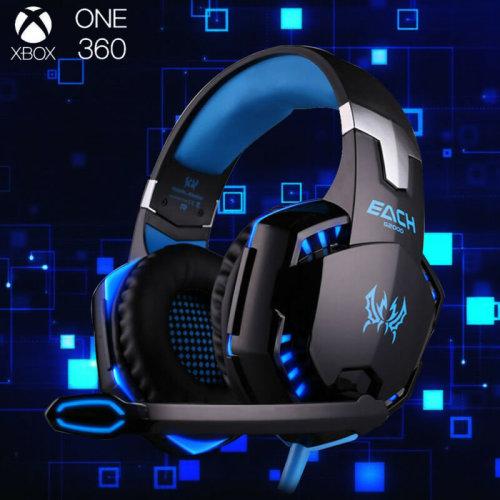 3.5mm Gaming Headset MIC LED Headphones G2000B Laptop PS4 One 360E