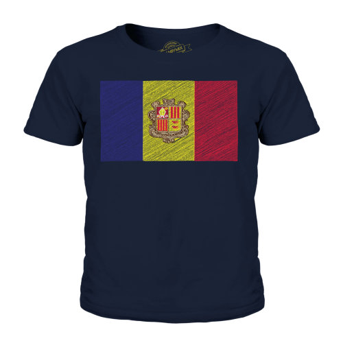 Candymix - Andorra Scribble Flag - Unisex Kid's T-Shirt