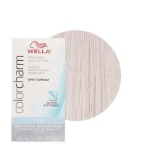 Wella T18 Color Charm Permanent Liquid Hair Toner - Lightest Ash Blonde