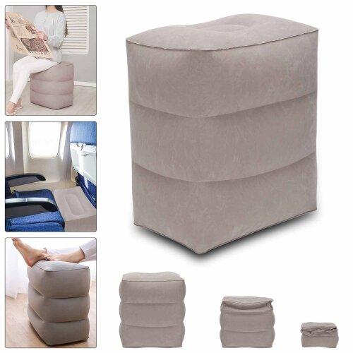 Travel Footrest Air Pillow Car Leg Relax Cushion Inflatable Foot Rest
