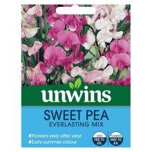 Flower Seeds Sweet Pea Everlasting Mix Pink Mauve White Climbing Plant