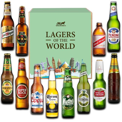Lagers of the World - gift case of 12 bottled beers
