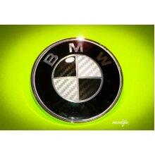 modifix_co_uk BMW CARBON Black & White Badge Emblem Logo Replacement Front Rear 82mm for BMW 1 2 3 4 5 6 7 Series M Sport