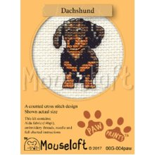 Mouseloft - Counted Cross Stitch Kit - Paw Prints Collection - Dachshund