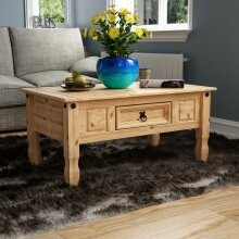 Corona 1 Drawer Coffee Table Rectangle Living Room Pine Furniture