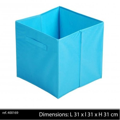 Fabric Storage Cube 31X 31 X31 Cm Turquoise