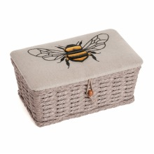Hobby Gift Sewing Box (S): Woven Basket: Linen Bee