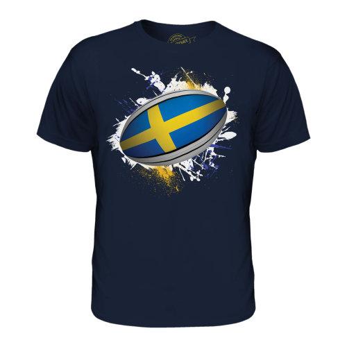 Candymix - Sweden Rugby Ball Splatter - Men's T-Shirt Top