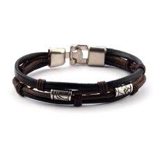 Men Vintage Braided Leather Bracelet