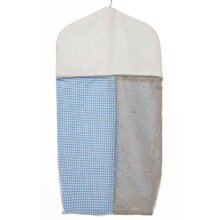 glenna Jean Starlight Diaper Stacker, Blue/White/grey/Silver Metallic